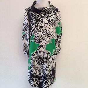 Tibi Silk Shift Print Dress Size 8